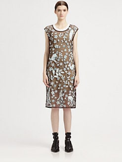3.1 Phillip Lim - Overexposed Sheer Applique Dress