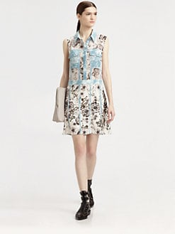 3.1 Phillip Lim - Mixed-Print Eyelet Shirtdress