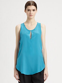 3.1 Phillip Lim - Silk Keyhole Tank Top
