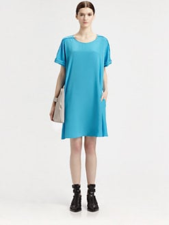 3.1 Phillip Lim - Pleated-Shoulder Silk Dress