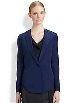 3.1 Phillip Lim - Cropped-Back Silk Blazer