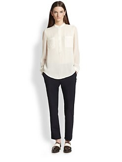 3.1 Phillip Lim - Silk Chiffon Henley Shirt