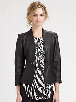 By Malene Birger - Open Front Leather Blazer