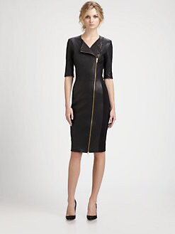 By Malene Birger - Asymmetric Zip Leather Dress