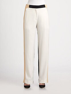 By Malene Birger - Colorblock Silk Pants