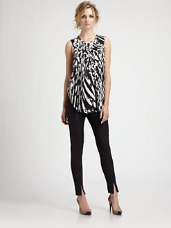 By Malene Birger - Silk Print Top