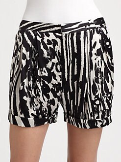 By Malene Birger - Silk Print Shorts