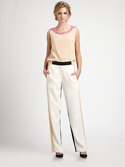 By Malene Birger - Beaded Petal-Back Top