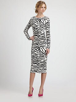 By Malene Birger - Zebra-Print Knit Dress