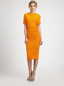 By Malene Birger - Side-Ruched Knit Dress