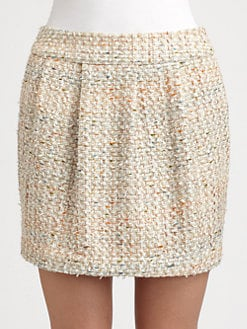 By Malene Birger - Pleated Tweed Mini Skirt