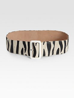 By Malene Birger - Wide Zebra-Print Belt