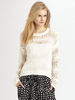 Cut 25 by Yigal Azrouel - Open-Knit Macrame Sweater