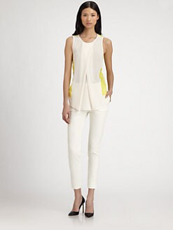 By Malene Birger - Lace-Back Crepe Top