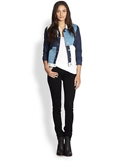 Surface To Air - Denim Colorblock Jacket