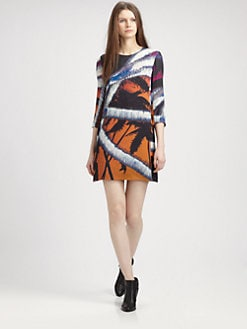 Surface To Air - Printed Silk Shift Dress