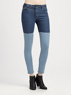 Surface To Air - Patchwork Skinny Jeans