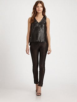 J Brand Ready-To-Wear - Rita Leather Top