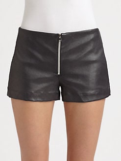 L'AGENCE - Leather Shorts