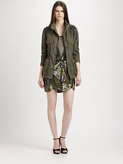 Haute Hippie - Embellished Anorak Jacket