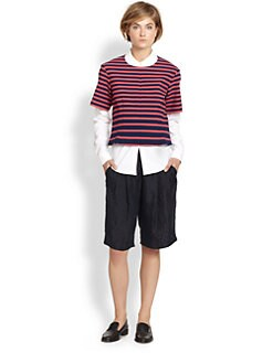 Thakoon Addition - Striped Sculpted Flared Top