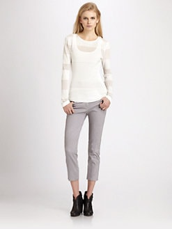 Cut 25 by Yigal Azrouel - Mesh Stripe Top