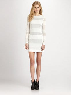 Cut 25 by Yigal Azrouel - Mesh Stripe Dress
