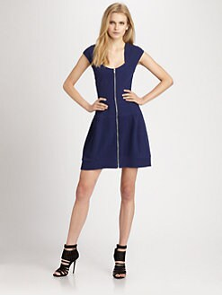 Cut 25 by Yigal Azrouel - Cross-Back Jacquard Dress