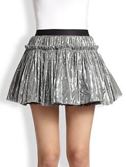 Faith Connexion - Full Lamé Mini Skirt
