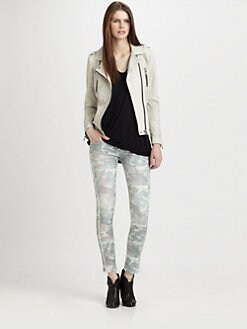IRO - Caelie Perforated Leather Moto Jacket