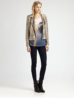 IRO - Derrick Sequined Moto Jacket