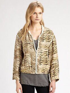 IRO - Jeffery Tiger-Print Linen Jacket