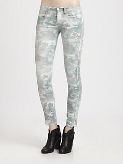 IRO - Damia Camo-Print Skinny Jeans