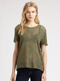 IRO - Taylor Perforated Cotton T-Shirt