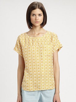 A.P.C. - Silk Print Pocket Top