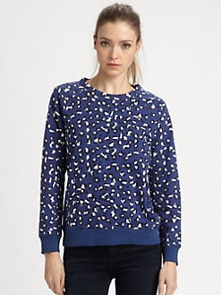A.P.C. - Animal-Print Sweatshirt/Indigo