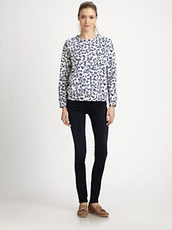 A.P.C. - Animal-Print Sweatshirt/Pale