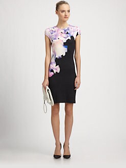 McQ Alexander McQueen - Iris-Print Jersey Dress
