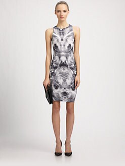 McQ Alexander McQueen - Iris Mirror-Print Jersey Dress