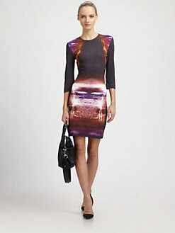 McQ Alexander McQueen - Lightening-Print Jersey Dress