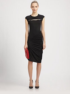McQ Alexander McQueen - Zipper-Trimmed Jersey Dress