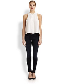 McQ Alexander McQueen - Silk Georgette Sleeveless Swing Top