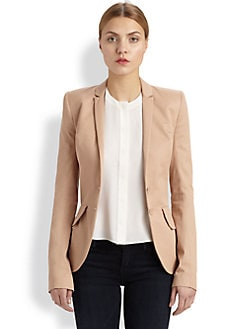 McQ Alexander McQueen - Woven Cotton Bustle-Back Blazer