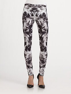 McQ Alexander McQueen - Iris Mirror-Print Jersey Leggings