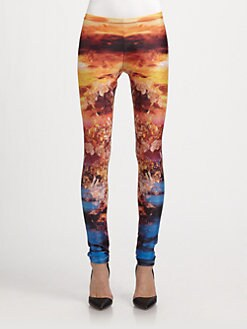 McQ Alexander McQueen - Mineral-Print Jersey Leggings