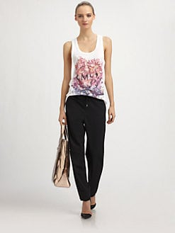 McQ Alexander McQueen - Cotton Mineral-Print Racerback Vest