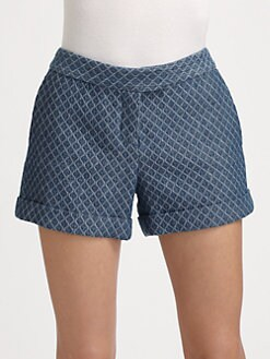 10 Crosby Derek Lam - Printed Denim Shorts