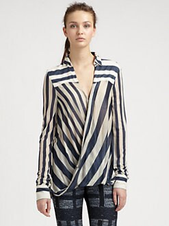 10 Crosby Derek Lam - Draped Stripe Blouse