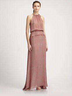 10 Crosby Derek Lam - Silk Halter Maxi Dress
