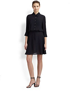 10 Crosby Derek Lam - Silk Blouson Shirtdress